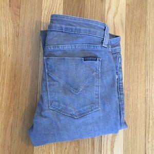 Hudson size 26 Krista super skinny gray jeans